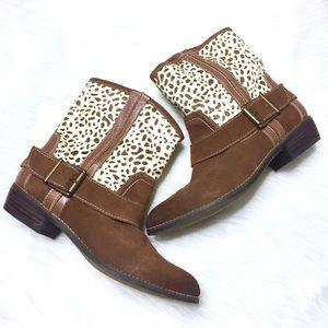 Kelsi Dagger Temptest Cognac Calf Hair Boots Sz 10